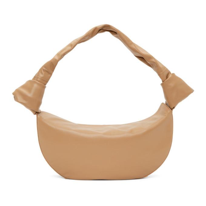 Little Liffner Tan Double Knot Bag in beige