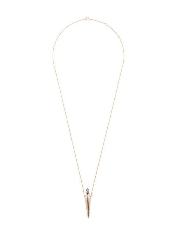 Diane Kordas diamond line amulette necklace in metallic