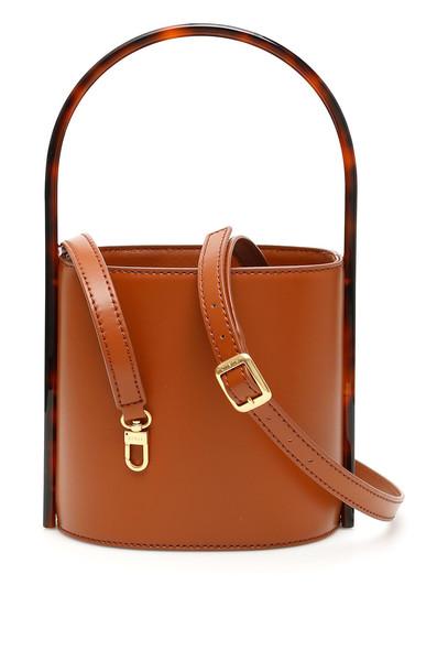 STAUD Bisset Bucket Bag in tan