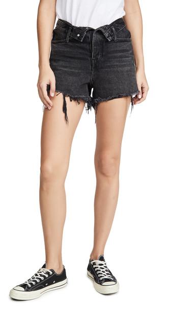 Denim x Alexander Wang Bite Flip Shorts in grey
