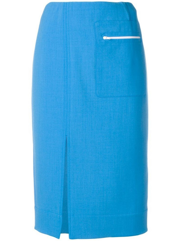 Kwaidan Editions front slit skirt in blue