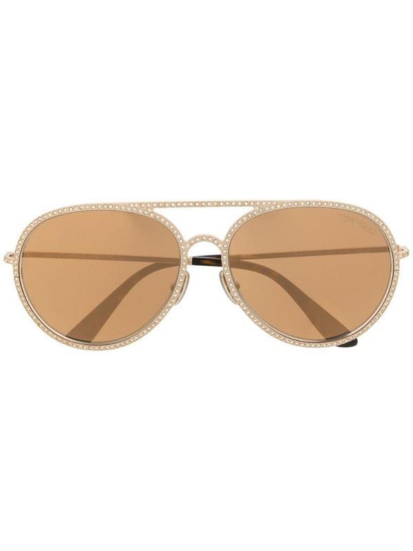 Tom Ford Eyewear Antibes aviator sunglasses in brown