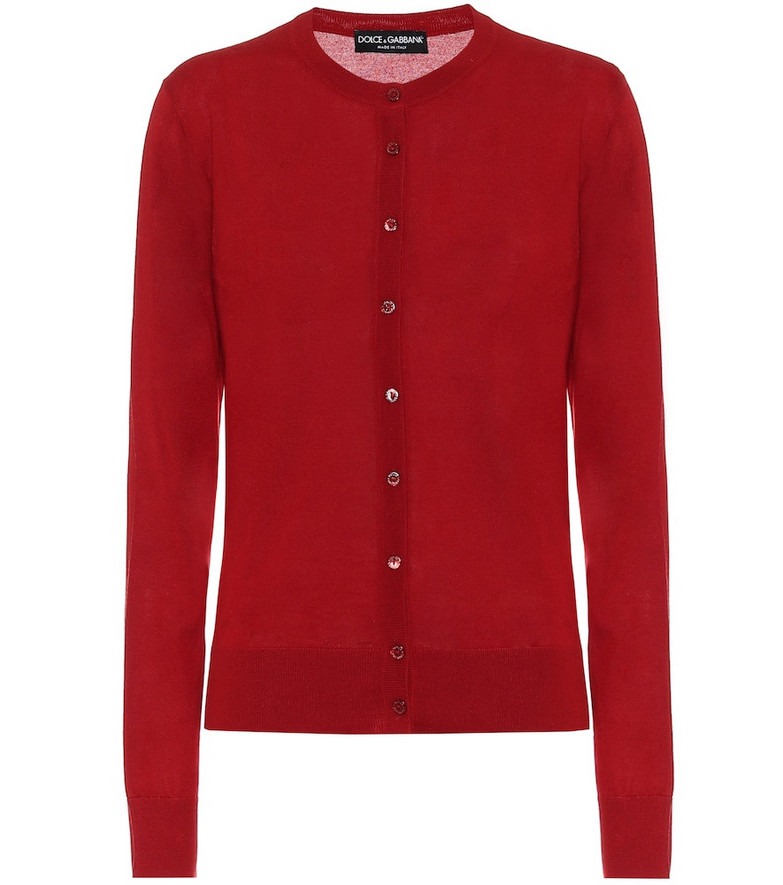 Dolce & Gabbana Cashmere and silk cardigan in red