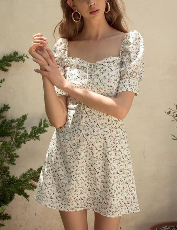 dress floral girly summer dress