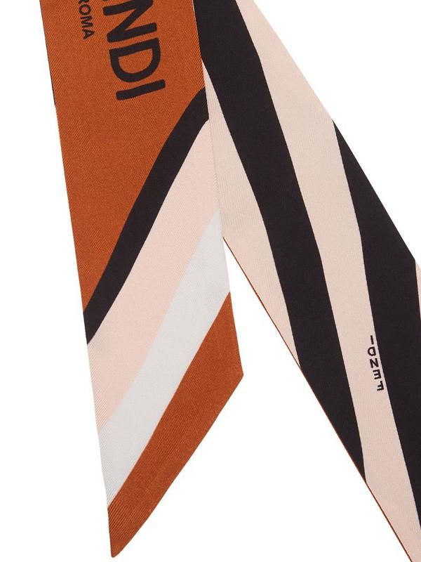 Fendi striped Wrappy scarf in pink