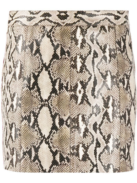 Givenchy snake-effect mini skirt in grey