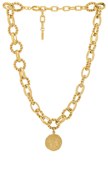 Natalie B Jewelry Zahara Pendant Necklace in Metallic Gold