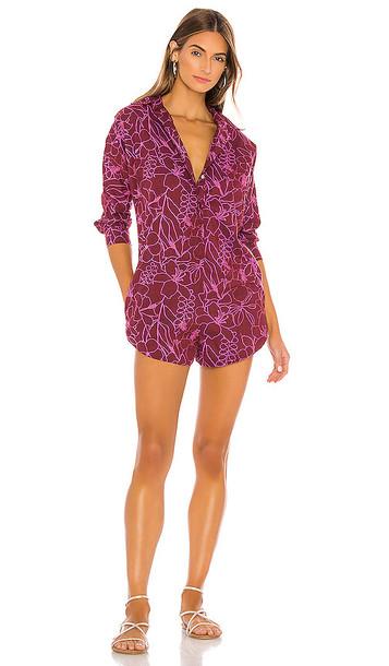 Acacia Swimwear Acacia X REVOLVE Swimwear Kapa'a Romper in Purple