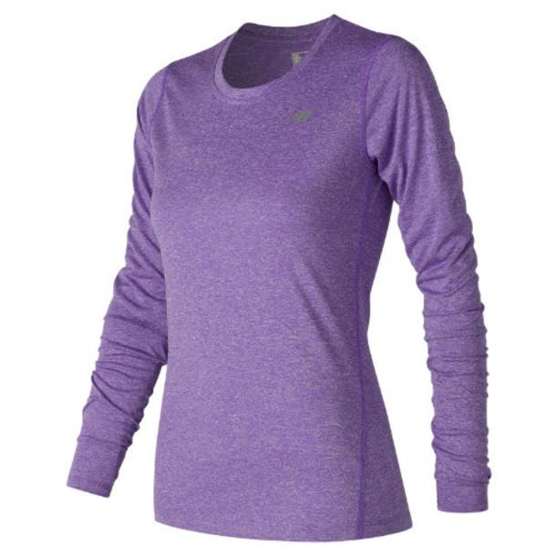 New Balance 63134 Women's Heathered Long Sleeve Tee - Purple (WT63134AIH)