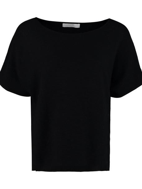 Fabiana Filippi Knitted Cotton T-shirt in black