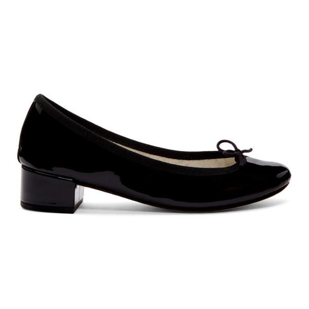 Repetto Black Patent Camille Ballerina Heels