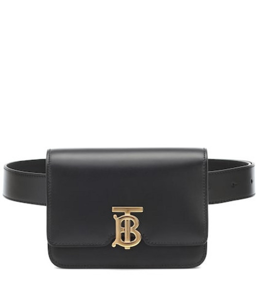 Burberry TB leather belt bag in black