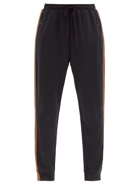 The Upside - Kodi Drawstring-tie Jersey Track Pants - Womens - Black Print