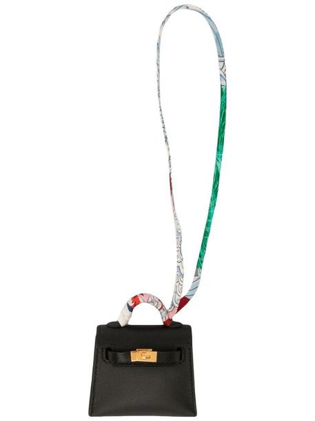 Hermès 2020 pre-owned Micro Kelly Twilly bag charm in black
