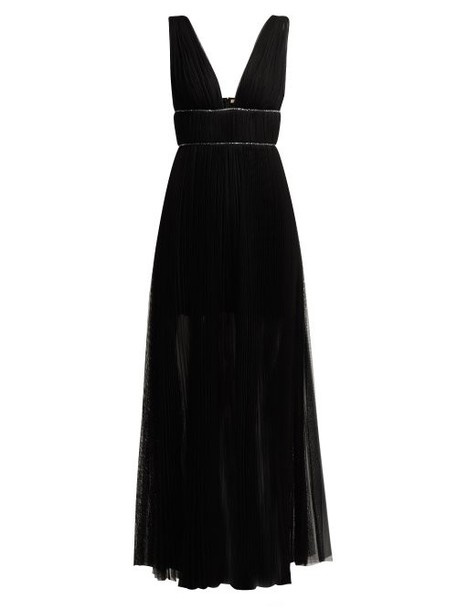 Maria Lucia Hohan - Kylie Crystal Embellished Pleated Tulle Dress - Womens - Black