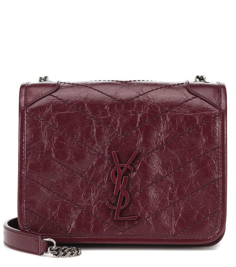 Saint Laurent Niki Mini leather shoulder bag in red