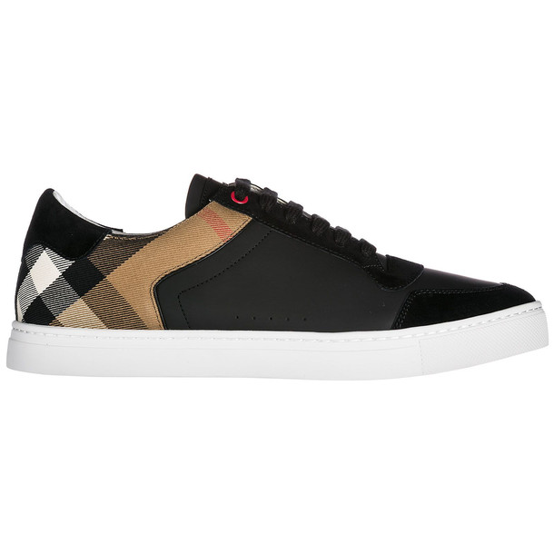 Burberry Men's Shoes Leather Trainers Sneakers Reeth Low in black