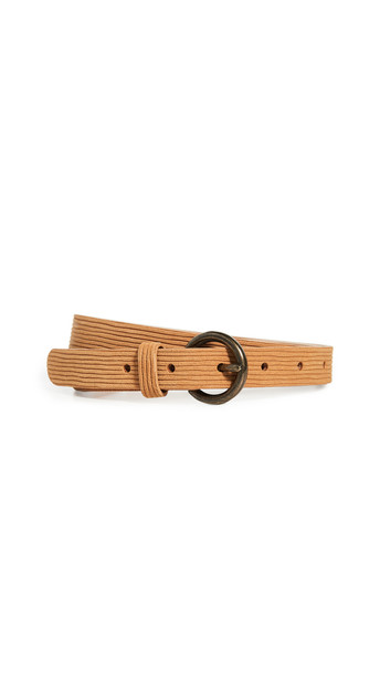 Madewell Cut Leather Belt in gold