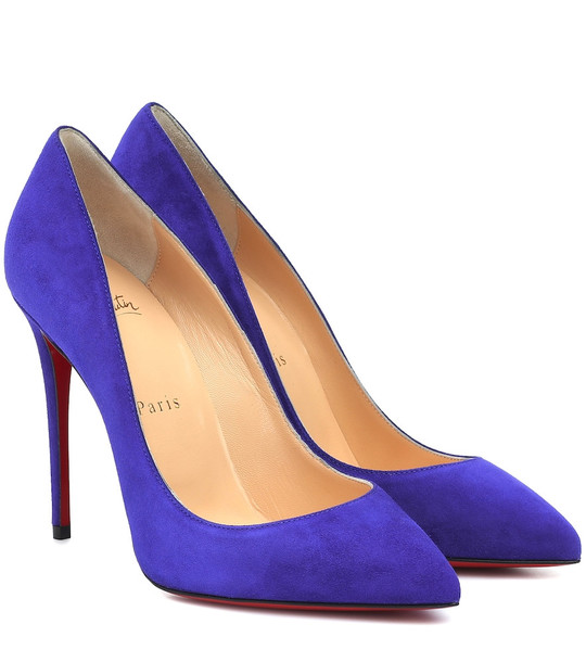 Christian Louboutin Pigalle Follies 100 suede pumps in purple