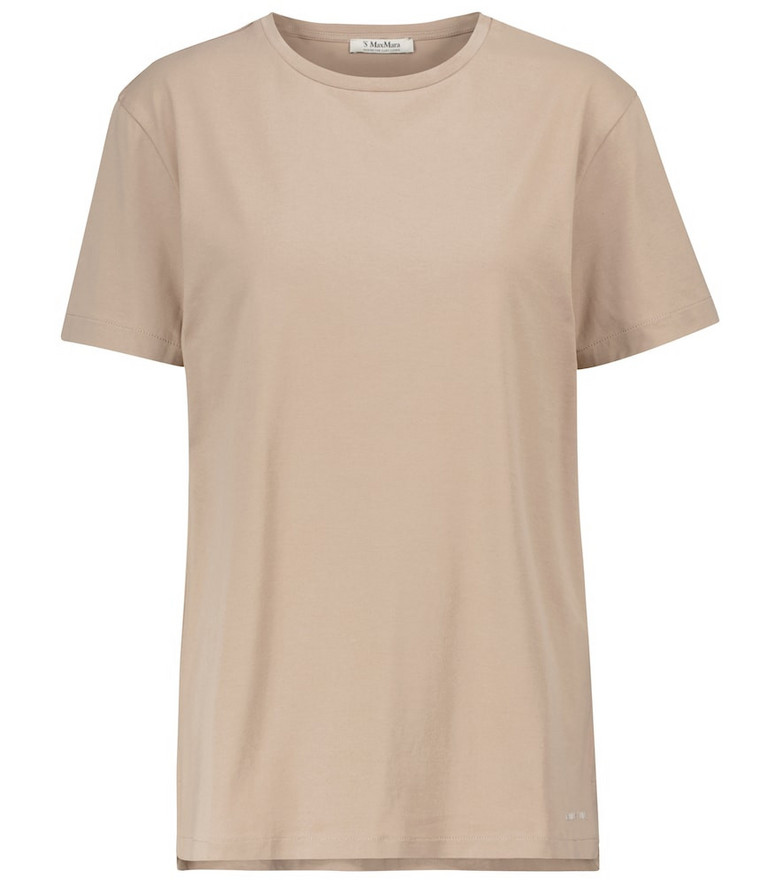 'S Max Mara Acqui cotton T-shirt in beige