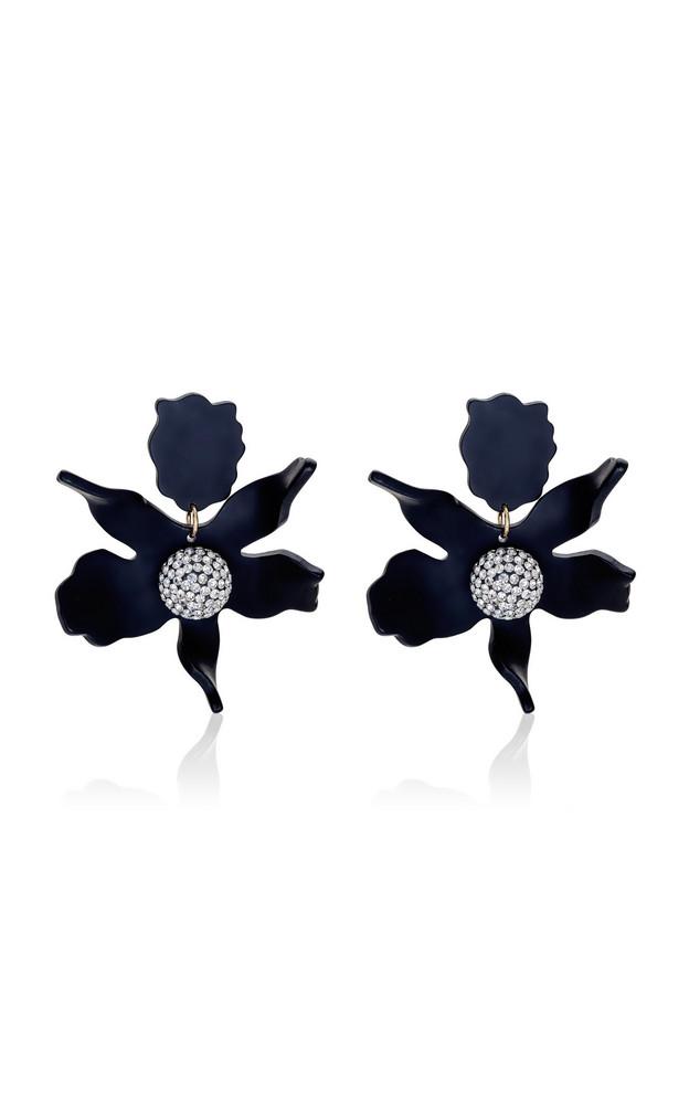 Lele Sadoughi Lily Crystal-Embellished Acetate Earrings in black
