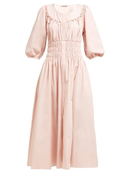 Three Graces London - Arabella Striped Linen Blend Dress - Womens - Pink