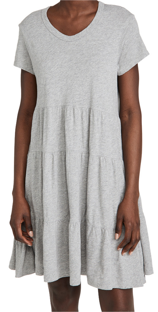Wilt Tiered Trapeze Dress in grey