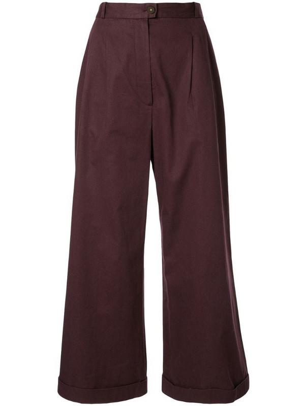 Chanel Pre-Owned Long Wide Pants in purple