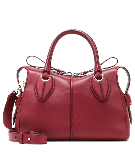 Tod's D-Styling Small leather shoulder bag in red