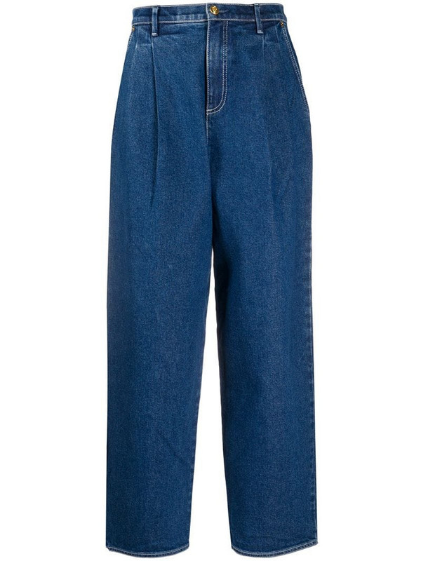 Tory Burch high-waist straight jeans in blue
