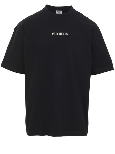 Vetements T-shirt in black