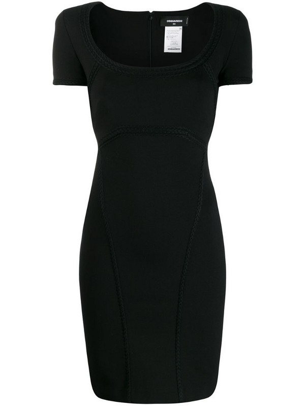 Dsquared2 short fitted dress in black