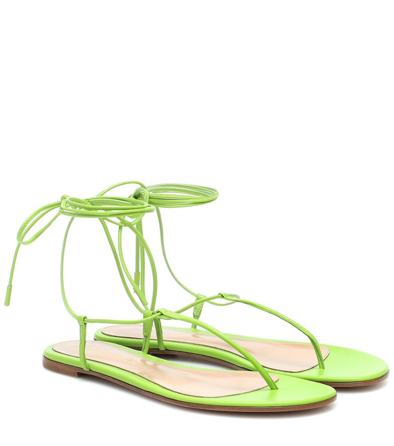 Gianvito Rossi Gwyneth leather sandals in green