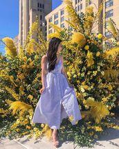 dress,striped dress,midi dress,sleeveless dress,summer dress,blue dress,sandal heels