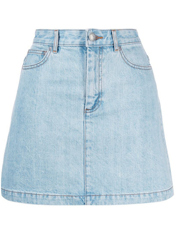 A.P.C. jean skirt in blue