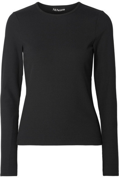 All Access - Session Ribbed Stretch Top - Black