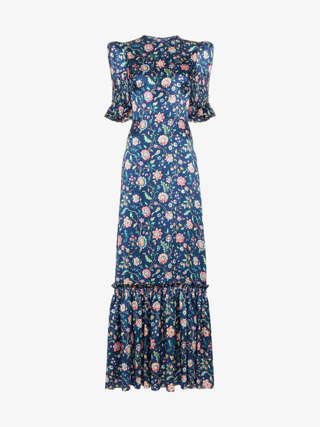 The Vampire's Wife Silk Floral Maxi Dress