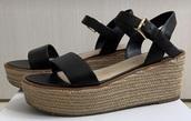 shoes,black,wedges,sandals,aldo,aldoshoes,leather
