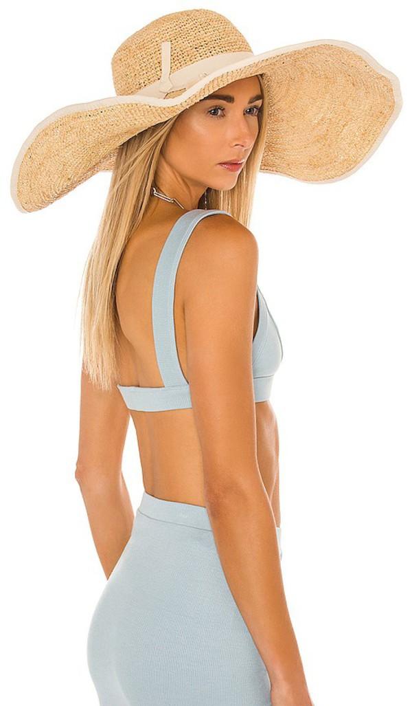 florabella Sonya Wide Hat in Tan in natural