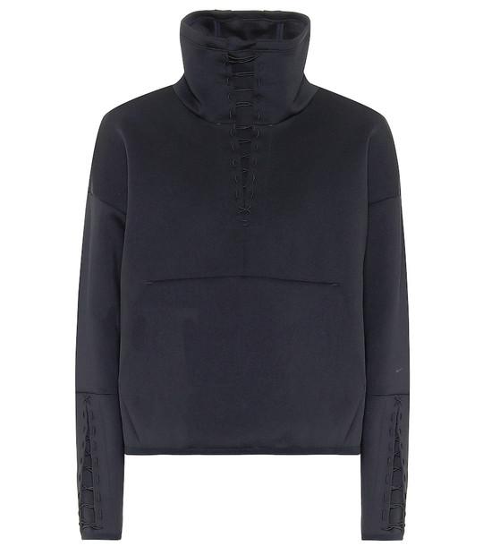 Nike Technical-jersey sweatshirt in black