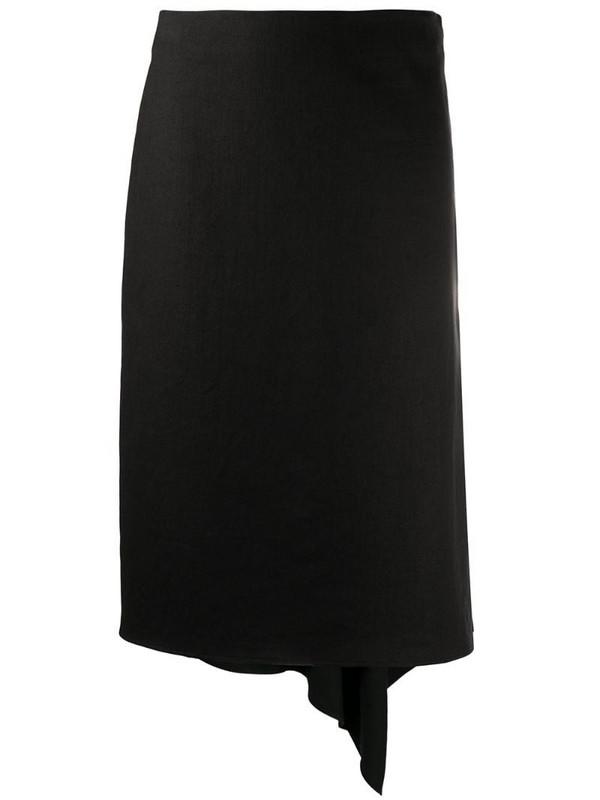 Joseph draped-hem knee-length skirt in black