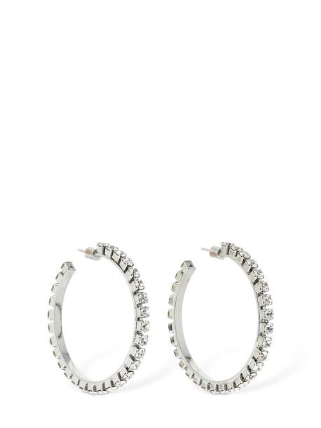 AREA Medium Classic Round Hoop Earrings in silver