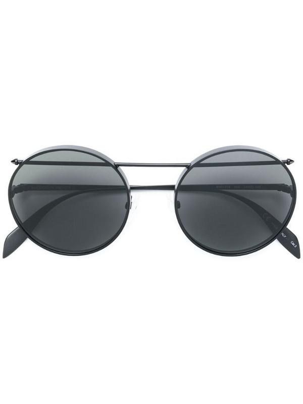 Alexander McQueen Eyewear round frame aviator sunglasses in black