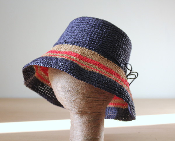 hat raffia sun hat raffia crochet hat bucket hat striped hat nautical hat summer beach