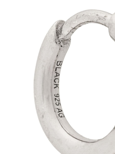 Maria Black Marco Huggie earring in silver