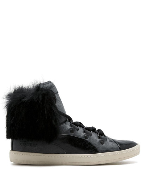 Puma Bound Mid Fur high-top sneakers in black