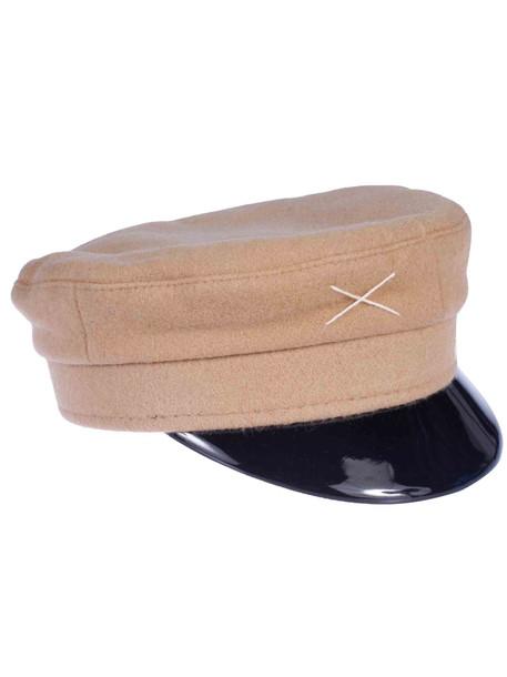 Ruslan Baginskiy Stitch Detail Hat in beige