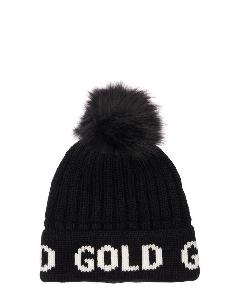 GOLDBERGH Wool Blend Beanie W/ Pompom in black
