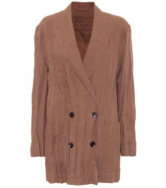 Acne Studios Linen blazer in brown