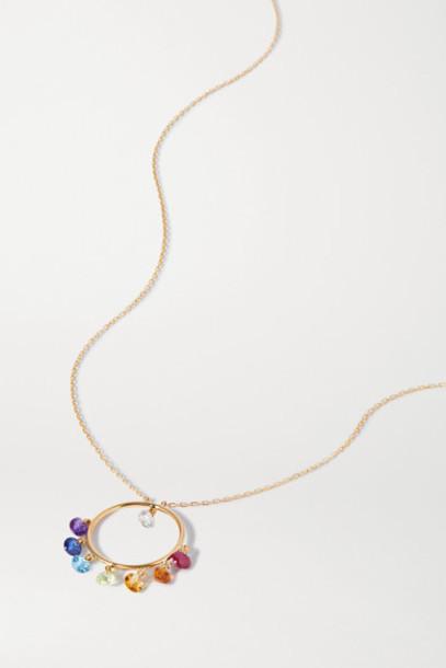 Persée - 18-karat Gold Multi-stone Necklace
